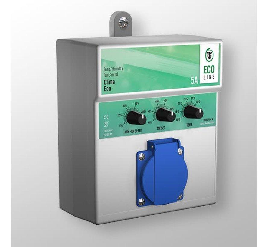 Techgrow Clima Control - Eco 5A Temp/Luchtvochtigheid Fan Control