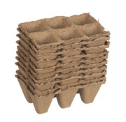 Nature Biodegradable Tray with Peat Pots Square 10 pieces