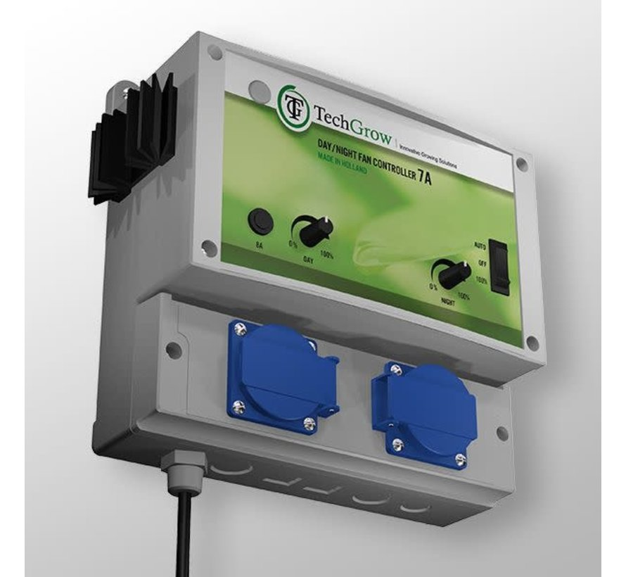 Techgrow Clima Control - Dag/Nacht Fan Controller 7A