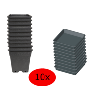 Fertraso 3.5L KWEEKPOT + LEKBAK 14x14 10 stuks
