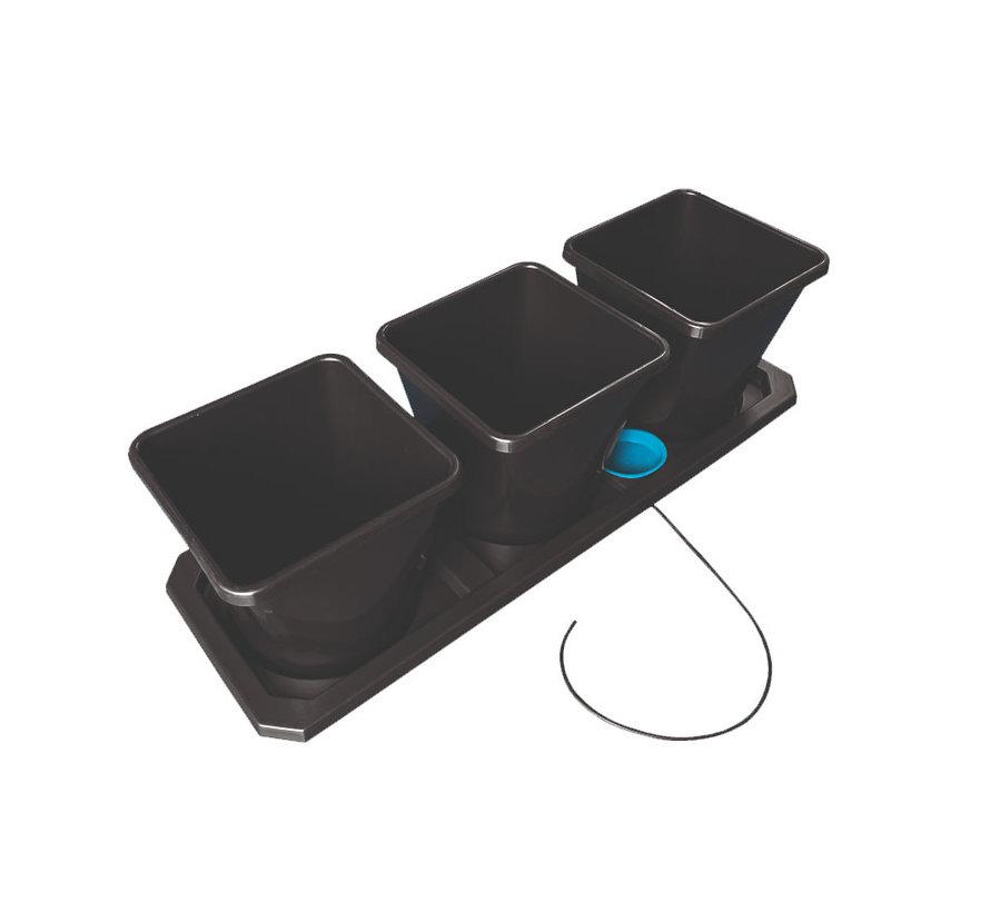 AutoPot Auto XL 3 Töpfe 25 Liter Tray-System 115x39 cm