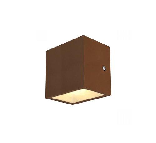 SLV Buiten Led Wandlamp - Sitra Cube Roestkleur 3000k
