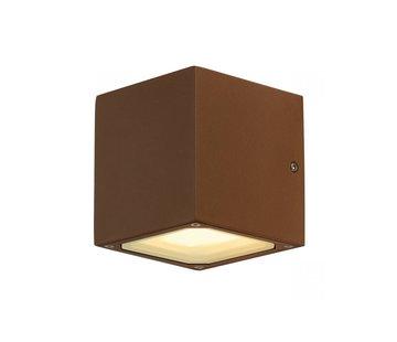 SLV buiten wandlamp Sitra Cube - gx53 - roest