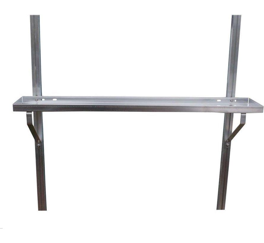 ACD Aluminium / RAL Kleur Schappen Set 2 Stuks 86x15 cm