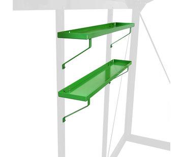 ACD Aluminium / RAL Color Shelves Set 2 Pieces 86x15 cm