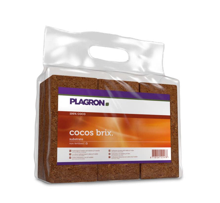 Plagron Cocos Brix Substrate 7 Litre 24 pcs Box