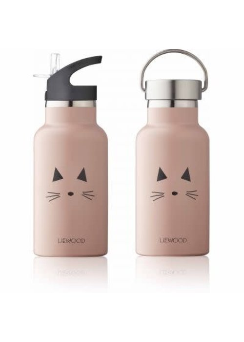 Liewood Liewood Anker Water Bottle Cat- rose