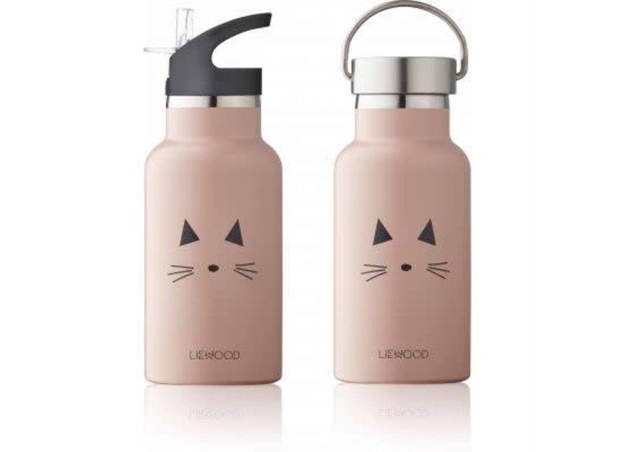 Liewood Anker Water Bottle Cat- rose