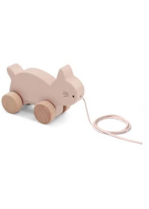 Liewood Liewood Abby Pull Along Toy Cat - rose