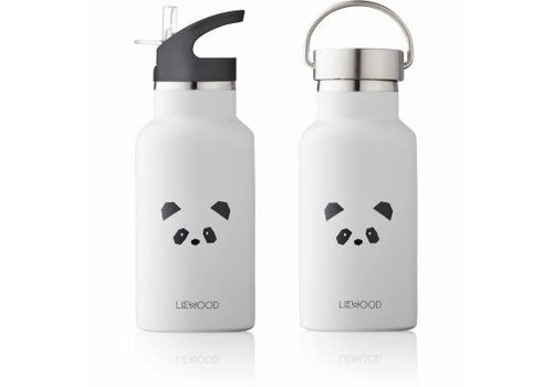 Liewood Liewood Anker Water Bottle Panda - light grey