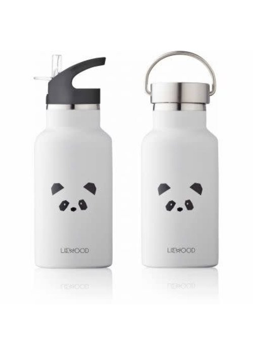 Liewood Liewood Anker Water Bottle Panda - light grey