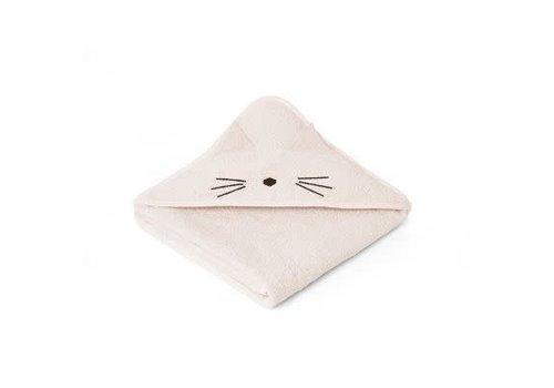 Liewood Liewood Augusta Hooded Towel Cat - sweet rose