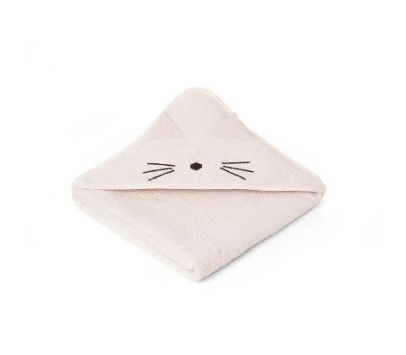 Liewood Augusta Hooded Towel Cat - sweet rose