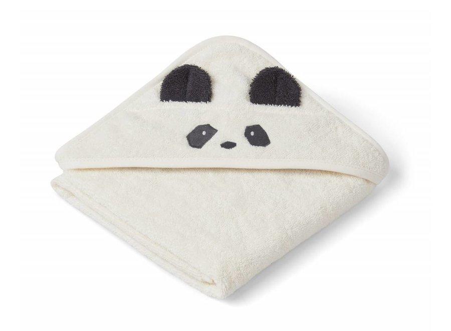 Liewood Augusta Hooded Towel Panda - Creme de la Creme