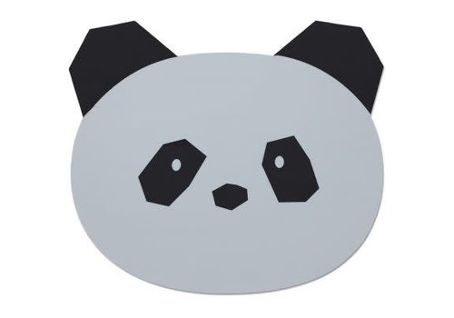 Liewood Liewood Aura Placemat Panda - dumbo grey