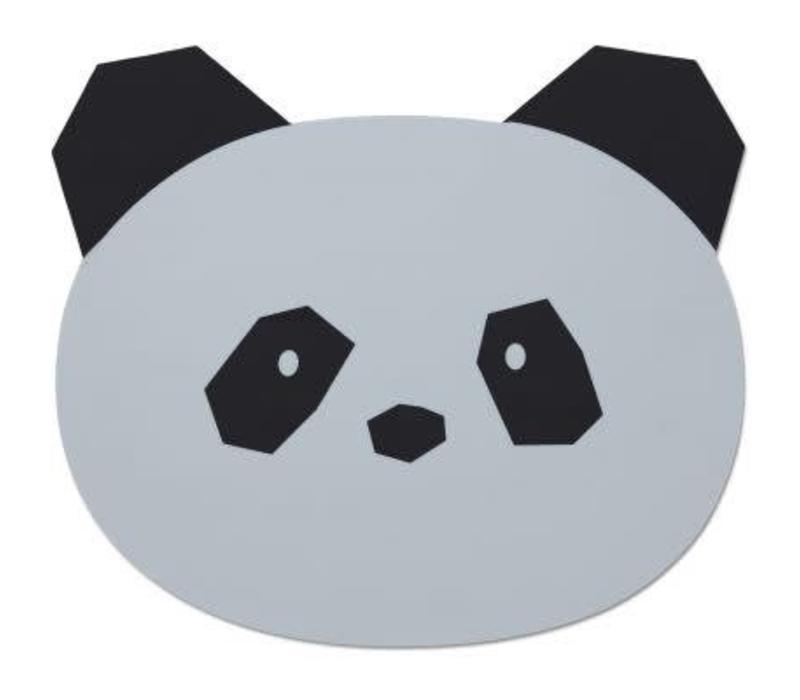 Liewood Aura Placemat Panda - dumbo grey