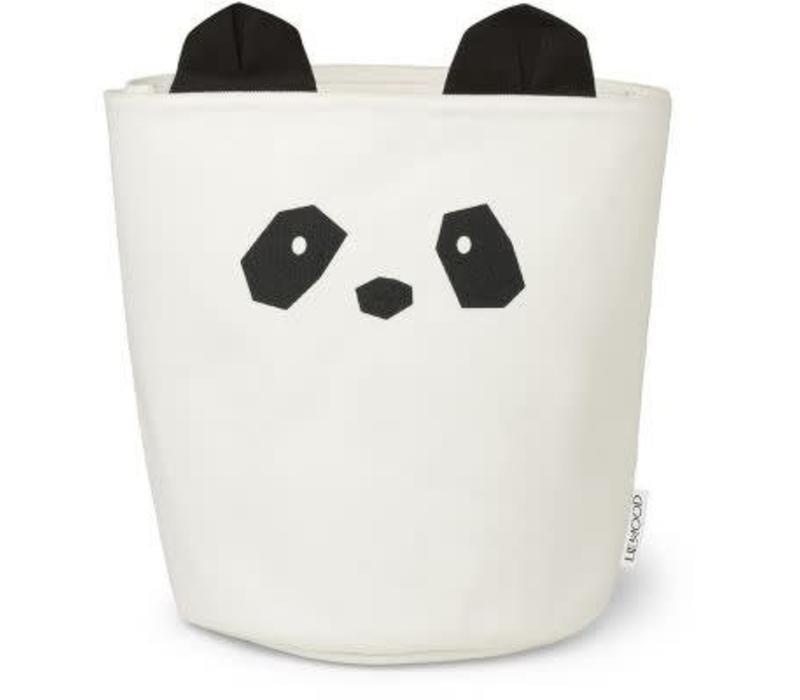 Liewood Aya Fabric Basket  Panda - creme de la creme