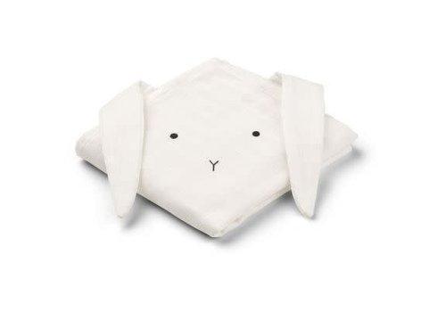 Liewood Liewood Hannah Muslin Cloth Rabbit 2-pack  - creme de la creme