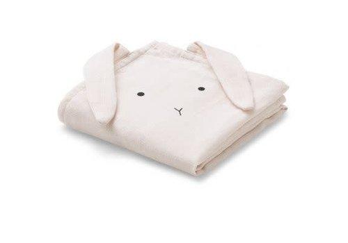 Liewood Liewood Hannah Muslin Cloth Rabbit 2-pack  - sweet rose