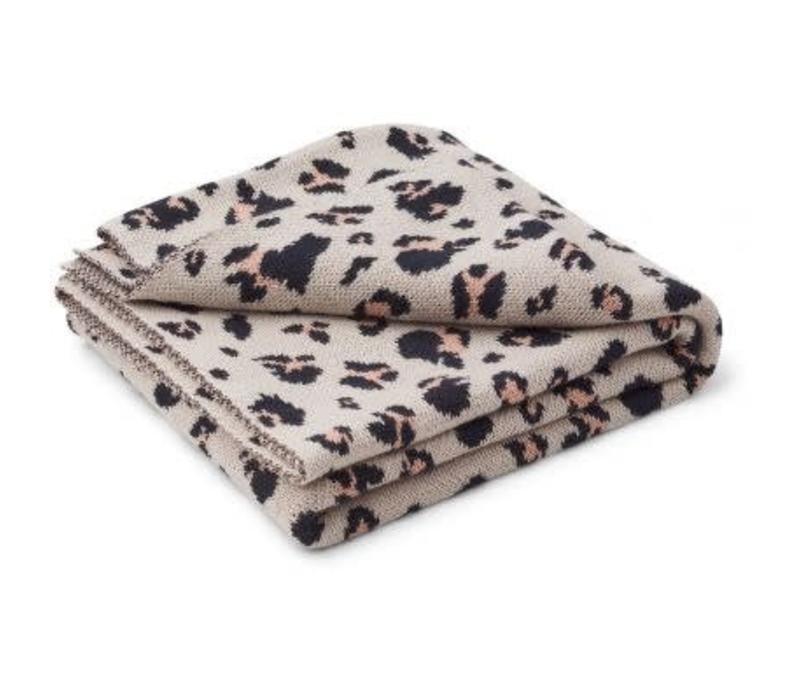 Liewood Kamma Jacquard Blanket - leo beige beauty