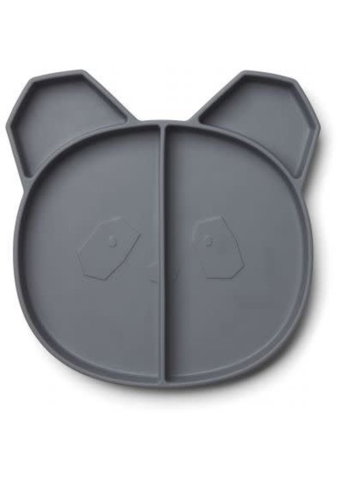 Liewood Liewood Maddox Multi Plate panda - stone grey