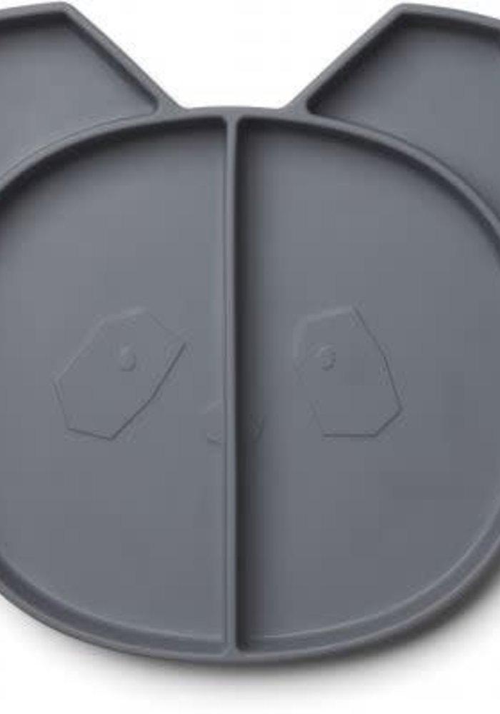 Liewood Maddox Multi Plate panda - stone grey