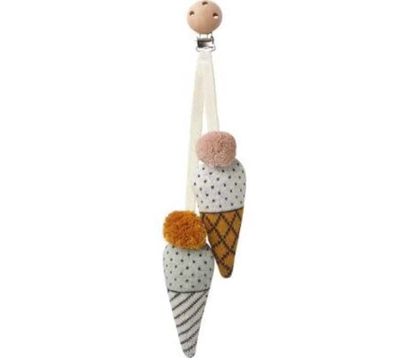Liewood Rosa Pram Toy Ice - little dot white