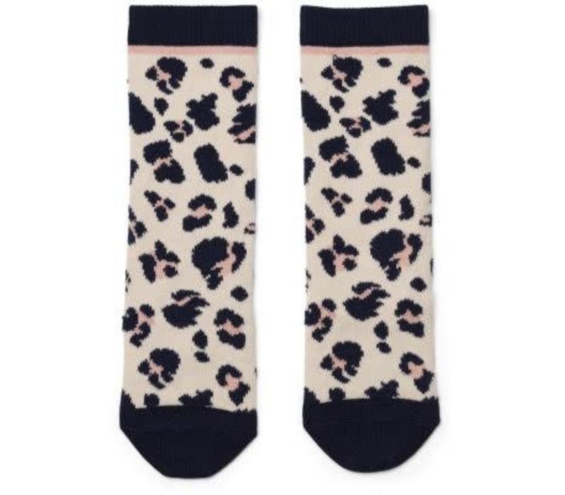 Liewood Sofia Cotton Knee Socks - leo beige beauty