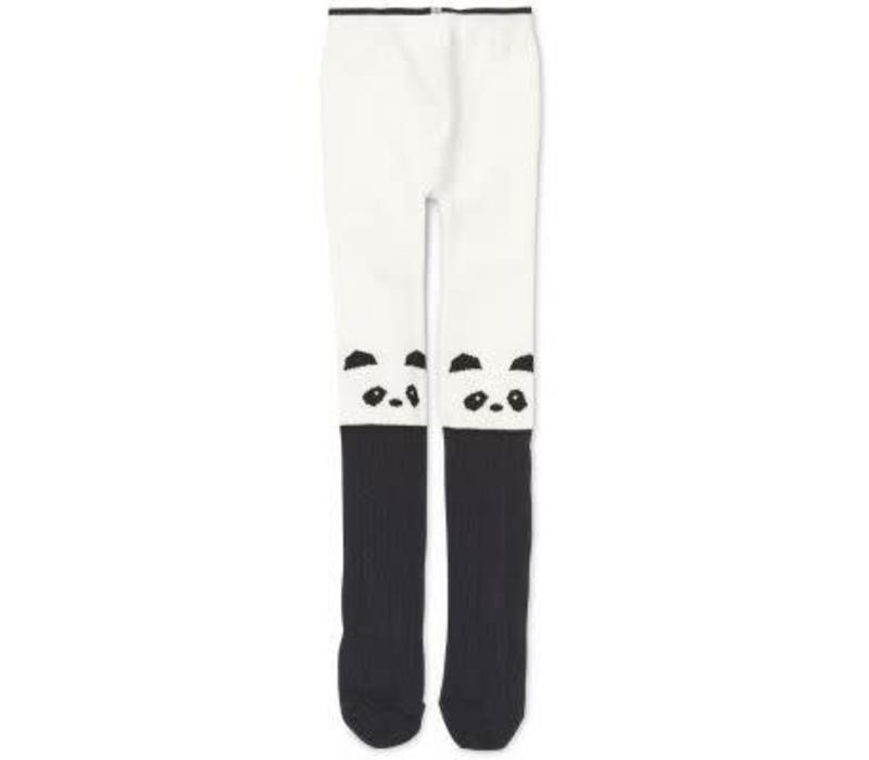 Liewood Silje Cotton Stocking Panda -creme de la creme