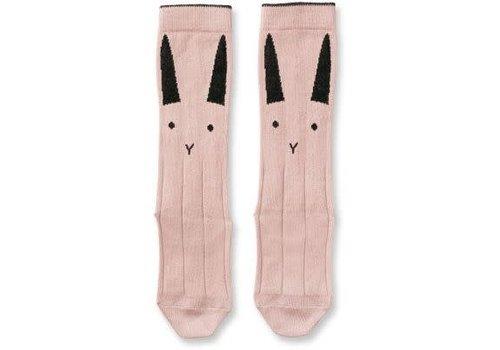 Liewood Liewood Sofia Knee Socks Rabbit - rose