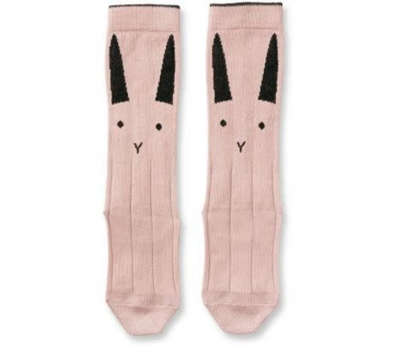 Liewood Sofia Knee Socks Rabbit - rose