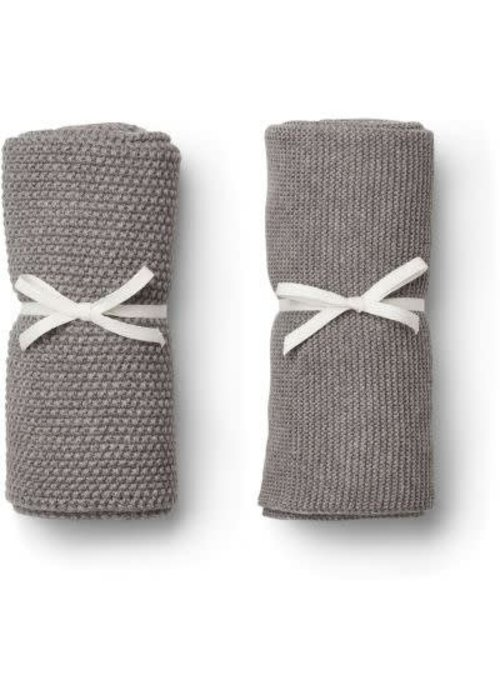 Liewood Liewood Tenna Knitted Towel 2 pack - grey melange