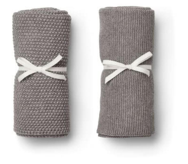 Liewood Tenna Knitted Towel 2 pack - grey melange