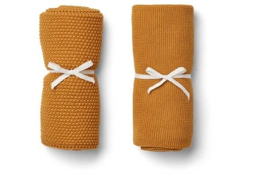 Liewood Liewood Tenna Knitted Towel 2 pack - mustard