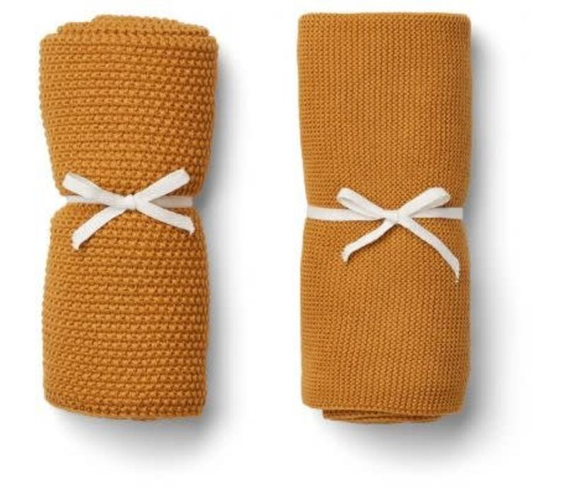 Liewood Tenna Knitted Towel 2 pack - mustard