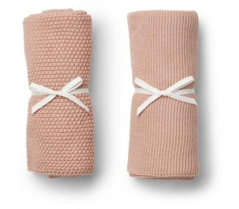 Liewood Tenna Knitted Towel 2 pack - rose