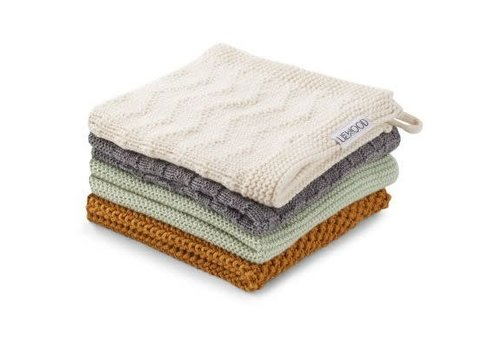Liewood Liewood Verner Wash Cloth 4 pack boy mix