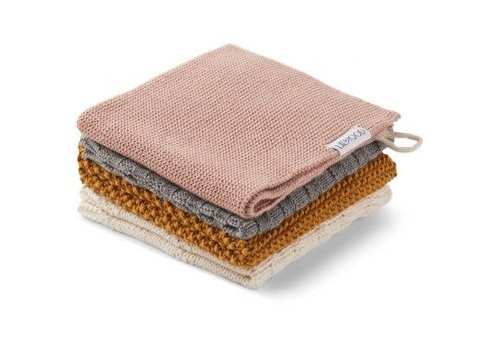 Liewood Liewood Verner Wash Cloth 4 pack girl mix