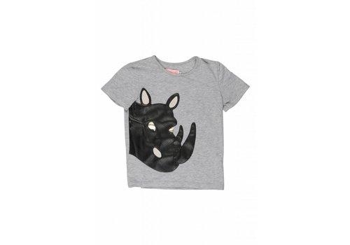 Wauw Capow by BangBang CPH Wauw Capow by BangBang Bad Rhino T-shirt - grey melange