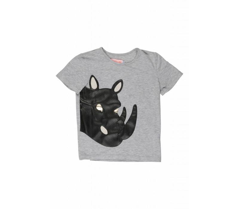 Wauw Capow by BangBang Bad Rhino T-shirt - grey melange