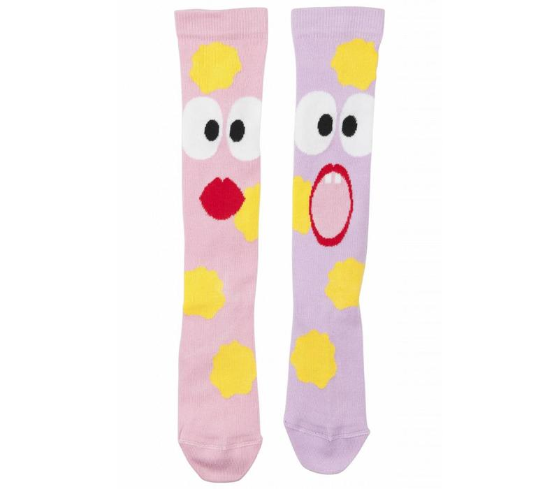 Wauw Capow by BangBang Spooked Socks - pink