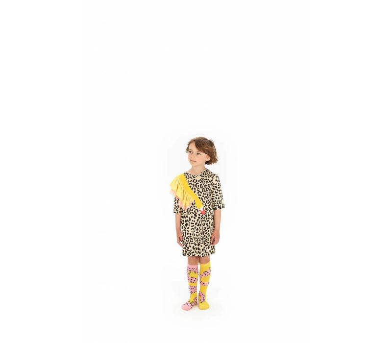 Wauw Capow by BangBang Houdini Socks - pink and yellow