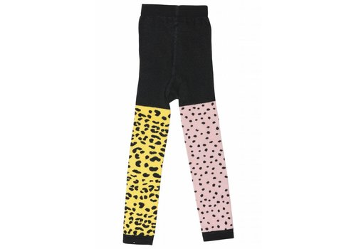 Wauw Capow by BangBang CPH Wauw Capow by BangBang Harley Tights - pink and yellow leopard