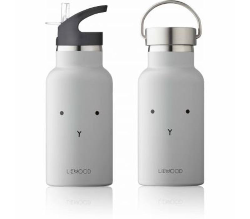Liewood Anker Water Bottle Rabbit - dumbo grey