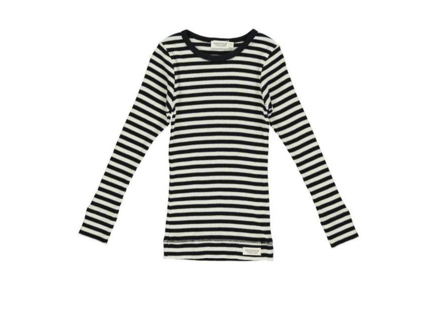 MarMar Plain Tee LS - modal stripes