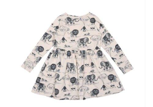 OneWeLike OneWeLike X Mini Empire Waist Dress Africa Revisited - tapioca