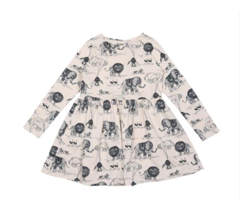 OneWeLike X Mini Empire Waist Dress Africa Revisited - tapioca