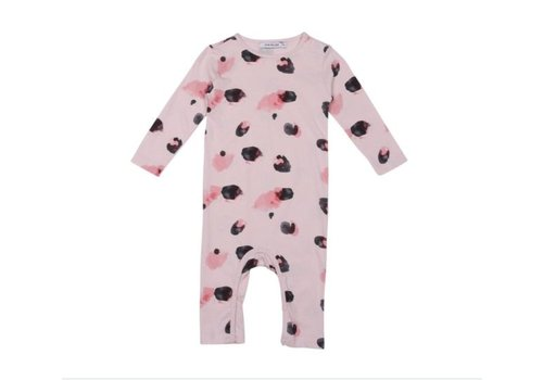 OneWeLike OneWeLike Baby Suit LS Fur AOP - light pink