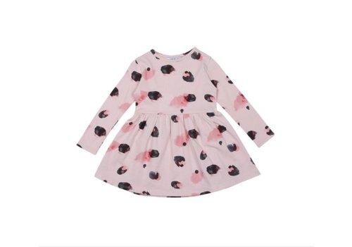 OneWeLike OneWeLike Waist Dress Fur AOP - light pink