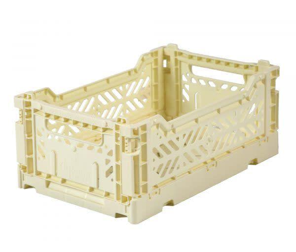 Eef Lillemor Folding Crate Mini - banana - Micky Blue